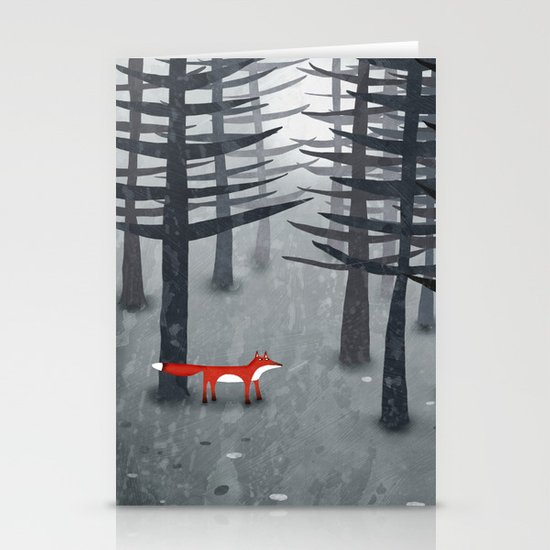 The Fox and the Forest Stationery Card