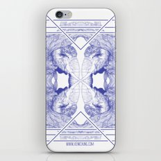 The Willow Pattern (Blue variation) iPhone & iPod Skin