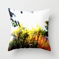 Backyard Hues Throw Pillow