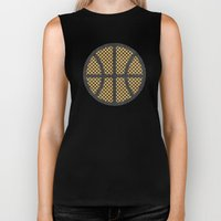 Op Art Basketball. Biker Tank