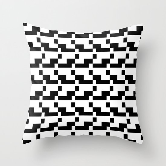 Blankaart Black & White Pattern Throw Pillow