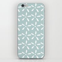 White flowers iPhone & iPod Skin