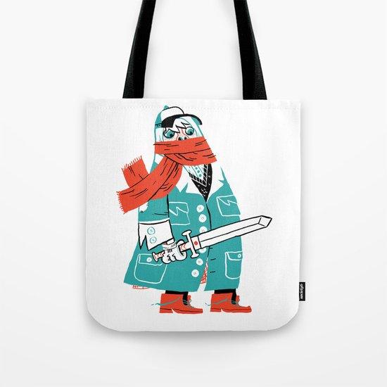 Creepy Scarf Guy Tote Bag