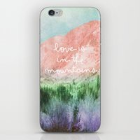 Love is in the Mountains iPhone & iPod Skin