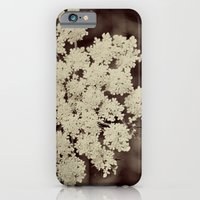 iPhone & iPod Case featuring Lace Black and White Flower by Kimberly Blok