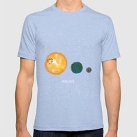 Moonzoned Mens Fitted Tee Tri-Blue SMALL