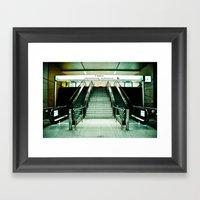 U-Bahn Framed Art Print