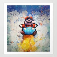 P Balloon - Super Mario World Series / Gaming & Video Games Art Print