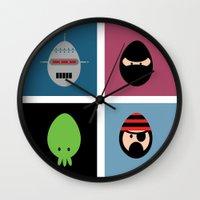 Robot Ninja Cthulhu Pira… Wall Clock