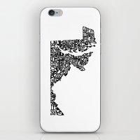 Typographic Maryland iPhone & iPod Skin