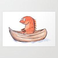 Sailing Goldfish Art Print