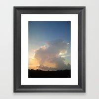 Cream Cloud Framed Art Print