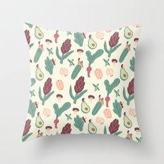 Girls love vegetables Throw Pillow