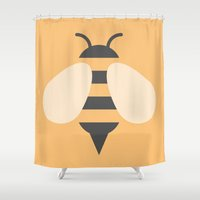 #81 Bee Shower Curtain