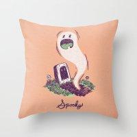 Spooky Ghostie Throw Pillow