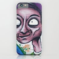 iPhone & iPod Case featuring Purple, blue and green graffiti by Marieken