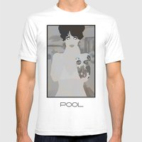 pool Mens Fitted Tee White SMALL