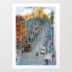 Leaving the High Line, NYC Art Print