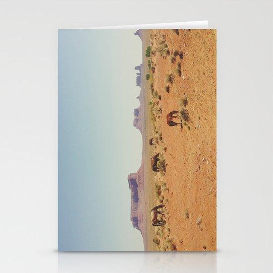Grazing The Desert Stationery Card