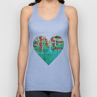 on my street -turquoise abstract Unisex Tank Top