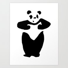 Happy Panda Art Print