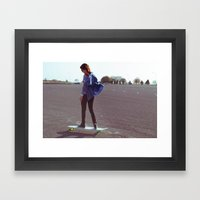 longboarding Framed Art Print