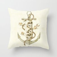 Three Missing Pirates Throw Pillow