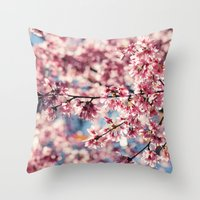 Painting the Town Pink Throw Pillow