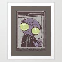 Office Zombie Art Print