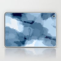 Amaya - navy blue abstract art Laptop & iPad Skin