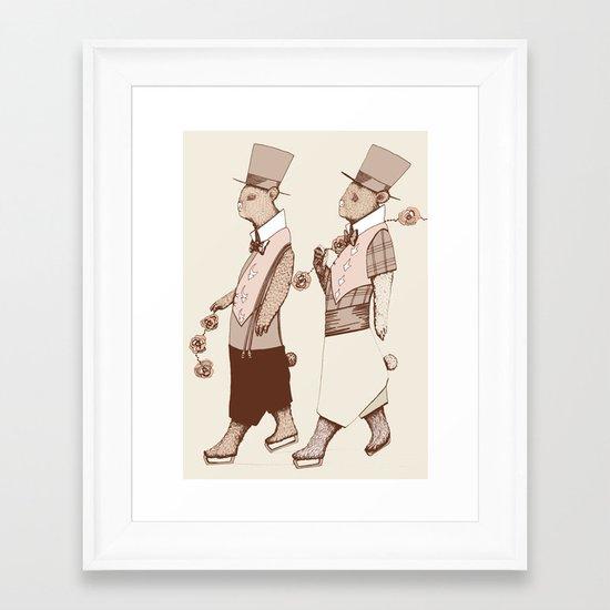 Le Défilé Framed Art Print