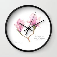 The Magnolia was dripping in gorgeousness Wall Clock
