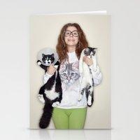 Crazy Cat Lady Photograph Stationery Cards