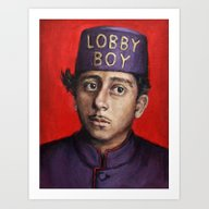 Lobby Boy / Grand Budape… Art Print