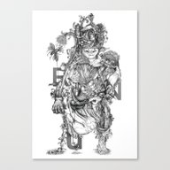 Human Naturally B/w Canvas Print