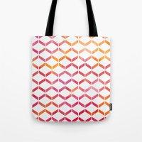 Sunset Geometric  Tote Bag
