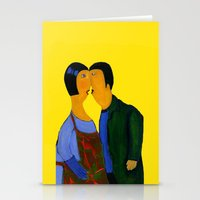 couple Stationery Cards featuring couple by agnes Trachet