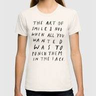 THE ART OF Womens Fitted Tee Natural SMALL