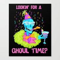 Lookin' For A Ghoul Time… Canvas Print