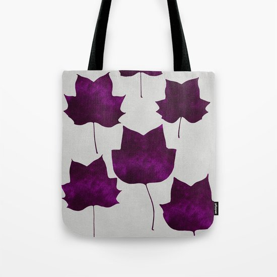 Mapleleaf Purple Tote Bag