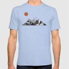 Mountainview Mens Fitted Tee Tri-Blue SMALL