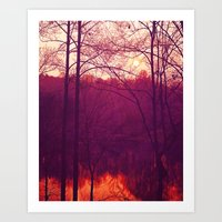 Lake Sunrise Art Print