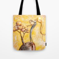 Tote Bag featuring Homecoming - Watering My… by Timone