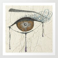 Sad Eye Art Print
