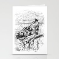 Wolf in woods G082 Stationery Cards
