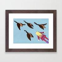 Flying V Framed Art Print