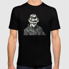 tom waits SMALL Mens Fitted Tee Black