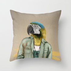 I was a Parrot before it was Cool Throw Pillow