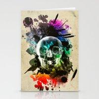 Skull Explosion Stationery Cards