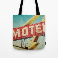 Thrashed Motel Sign Tote Bag